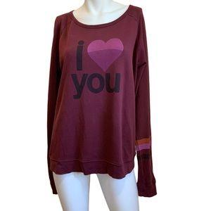 freecity I Love You/Life Nature Love Sweatshirt M